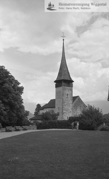 #100491 | Spiez BE; Schlosskirche aus dem 11. Jh; erru