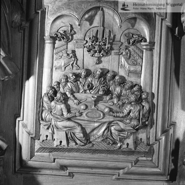 #100530 | Klosterkirche; Chorgestühl; Einsetzung des heiligen Abendmahles; elaf; fja