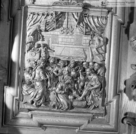 #100528 | Klosterkirche; Chorgestühl; Fusswaschung; elaf; fja