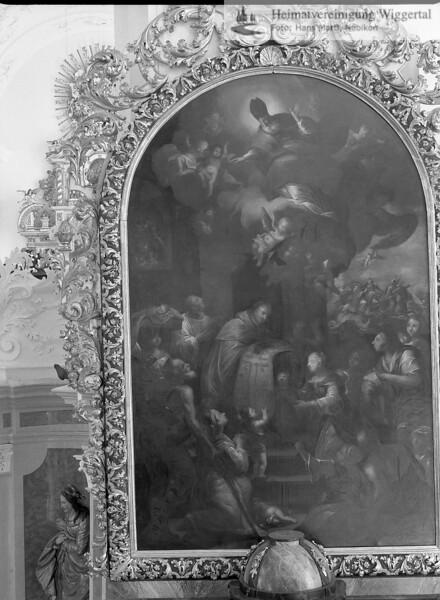 #100554 | Klosterkirche; Bild des Ulrichaltars, der südlich des Chorgitters steht; elaf