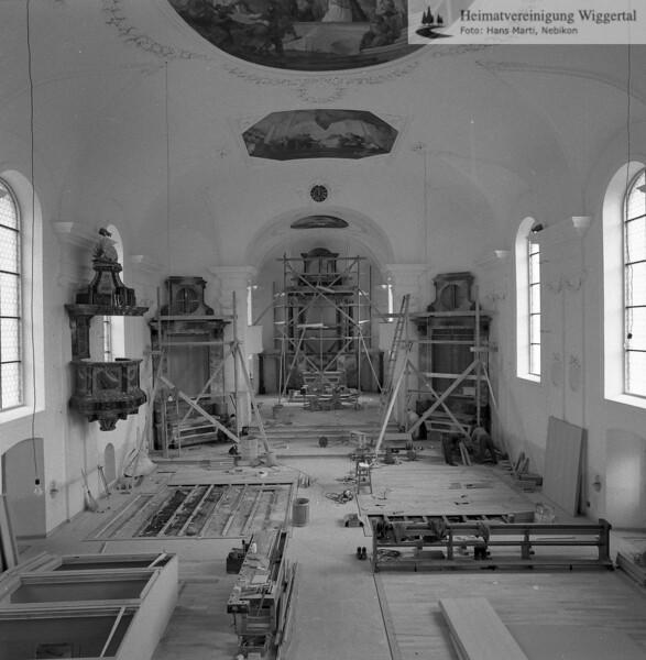 #100848 | Pfarrkirche; erbaut 1801–1803; Baumeister Joseph Purtschert aus Pfaffnau; Renovation des Innenraumes 1966-1968; hust