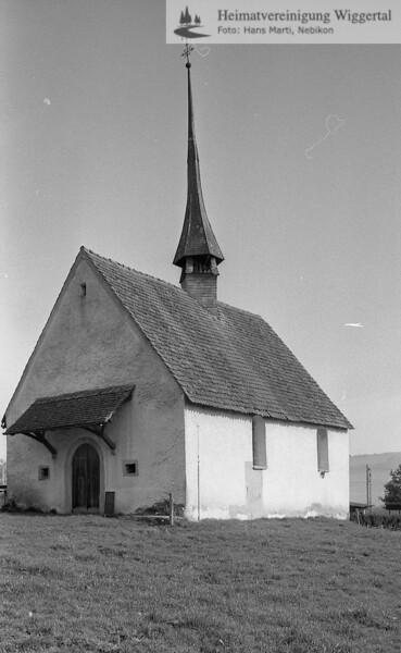 #110010 | wo? was?wahrscheinlich:; St Margrethen Nottwil, Blick von Süden vor der Renovation ca 1990; boan