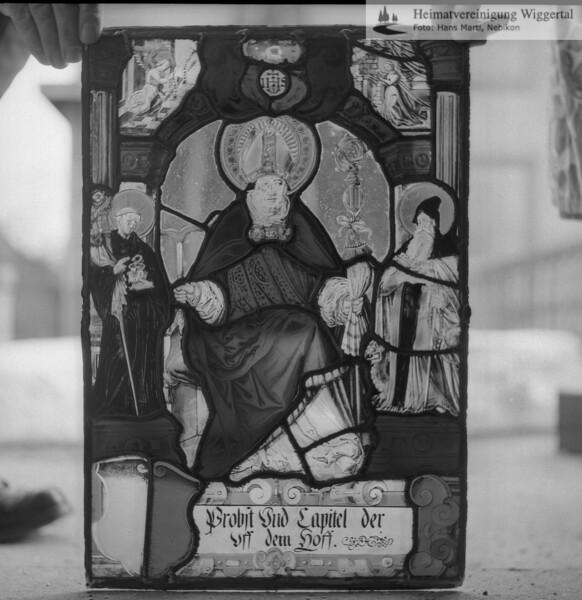 #110121 | Wappenscheibe; Probst Und Capitel der; uff dem Hoff; fja