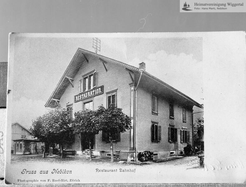 #130112 | Postkarte; Restaurant Bahnhof; wann?; Reprofoto; fja