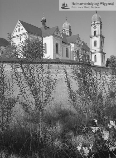 #140014 | Klosterkirche hinter der Klostermauer, Richtung Murhof; PBA