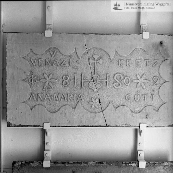 Museum Burgrain 22.5.73 / Kriens Kretzenhaus
