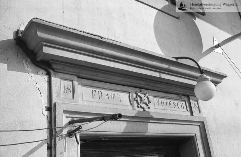 #150063   Portal; mit Mühlrad; Inschrift; 1848; FRANZ VONESCH; fja