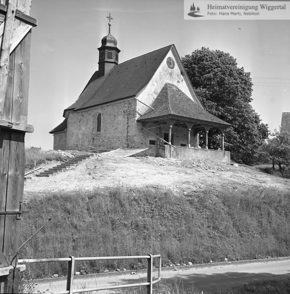 #160054 | Kapelle während der Renovation; 1983; MHN; fja