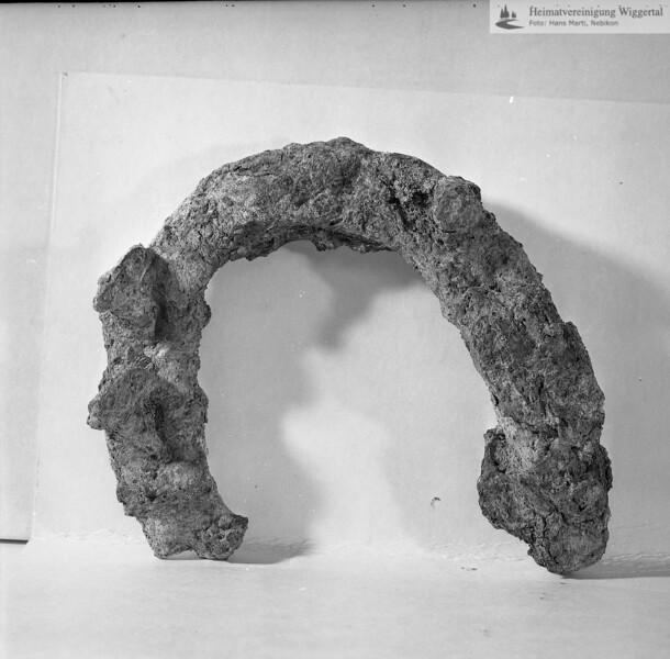 #160587 | Burgstelle Salbüel; Ausgrabung 1982; Fundobjekt: Hufeisenfragment; fwk