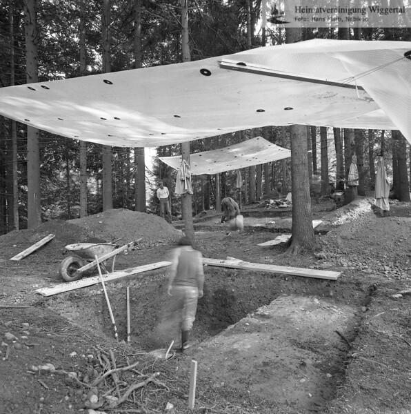 #160603 | Burgstelle Salbüel; Ausgrabung 1982; fwk