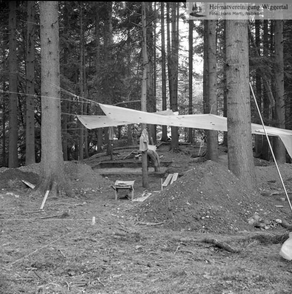 #160604 | Burgstelle Salbüel; Ausgrabung 1982; fwk