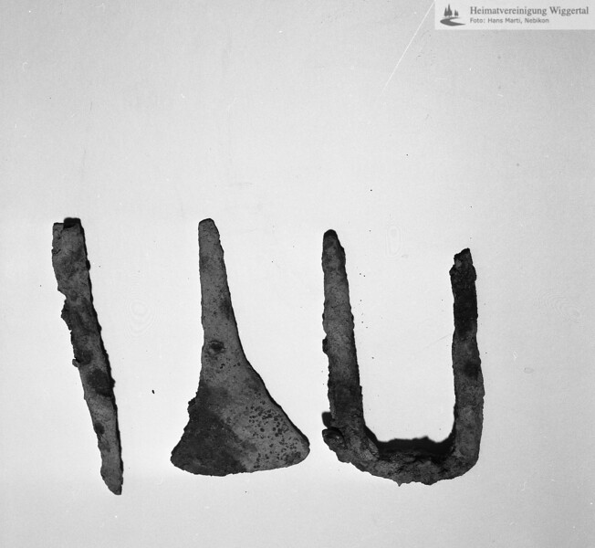 #160610 | Burgstelle Salbüel; Ausgrabung 1982; Fundobjekte: Metall; fwk