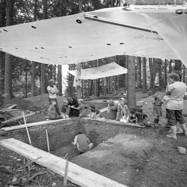 #160616 | Burgstelle Salbüel; Ausgrabung 1982; fwk