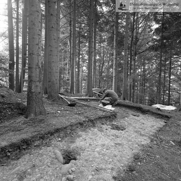 #160619 | Burgstelle Salbüel; Ausgrabung 1982; fwk