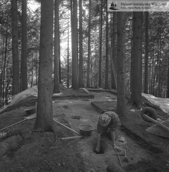 #160626 | Burgstelle Salbüel; Ausgrabung 1982; fwk