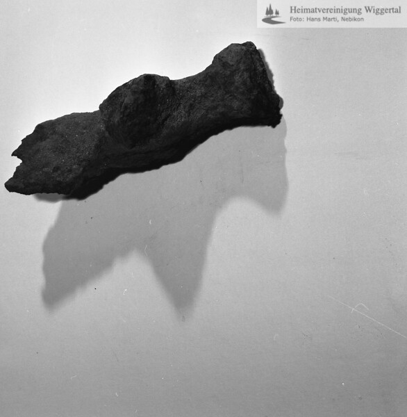 #160612 | Burgstelle Salbüel; Ausgrabung 1982; Fundobjekt: Hammer; fwk
