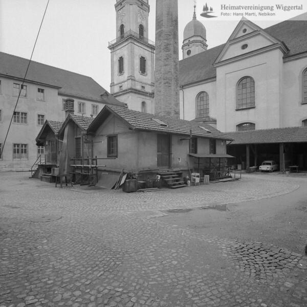 #160674 | Heizzentrale im Nordhof der Konventsgebäude (abgebrochen 1969); Literatur; Jürg Goll: St. Urban; Baugeschichte und Baugestalt des mittelalterlichen Klosters; erru