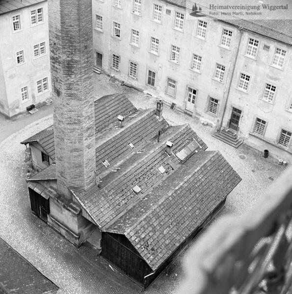#160678 | Heizzentrale im Nordhof der Konventsgebäude (abgebrochen 1969); Literatur; Siehe Jürg Goll: St. Urban. Baugeschichte und Baugestalt des mittelalterlichen Klosters; erru; s.160674
