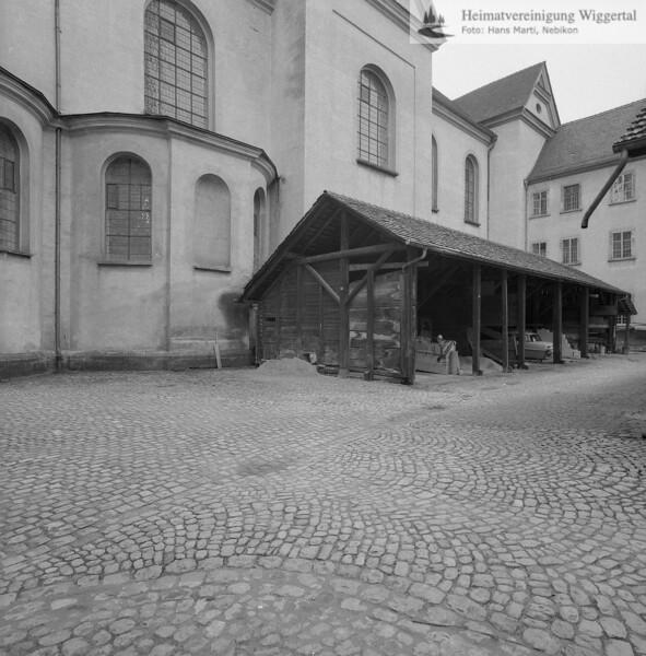 #160681 | Kohleschuppen der Heizzentrale im Nordhof der Konventsgebäude (abgebrochen 1969); erru; s.160682, 160674, 160678