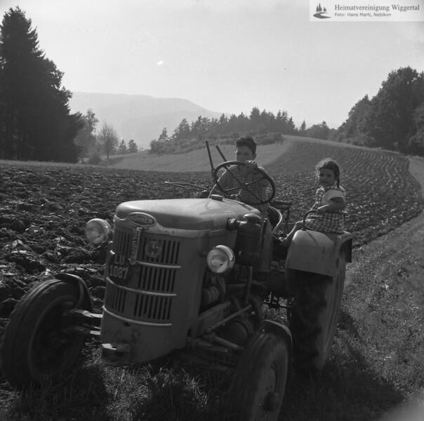 #170027 | Ackerbau; Pflügen; Traktor; fja; wo?
