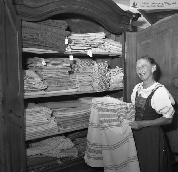 #170275 | Schloss Wartensee; Margrit Rösli; (Besitzerin und Betreiberin der von 1928 bis ca. 1993 bestehenden Handweberei); fwk