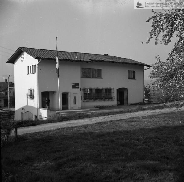 #170268 | Post; Altes Postgebäude oberhalb des alten Bahnhofes; Wird heute nicht mehr genutzt; hbä; fja; s.060270