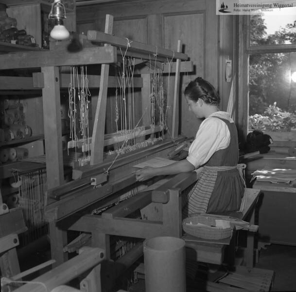 #170274 | Schloss Wartensee; Webstuhl in der von 1928 bis ca. 1993 durch Margrit Rösli betriebenen Handweberei; fwk; fja