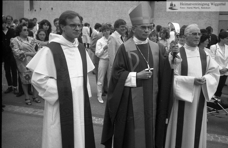 #170678   Bischof Otto Wüst und Pfarrer Huwyler; wer?; rhä