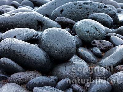 Lavasteine vom Meer geschliffen, Faial, Azoren, Portugal