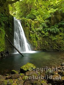 Wasserfall, bei Faial da Terra, Insel Sao Miguel, Azoren, Portugal,