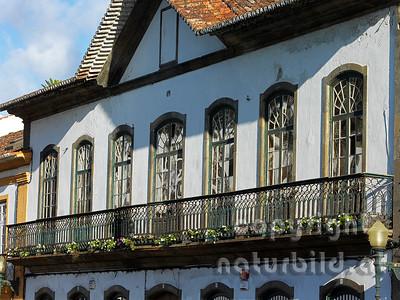 Altes Gebäude, Zentrum von Angra do Heroismo, Insel Terceira, Azoren, Portugal,