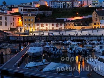 Abendstimmung, Jachthafen, Angra, Terceira, Azoren, Portugal