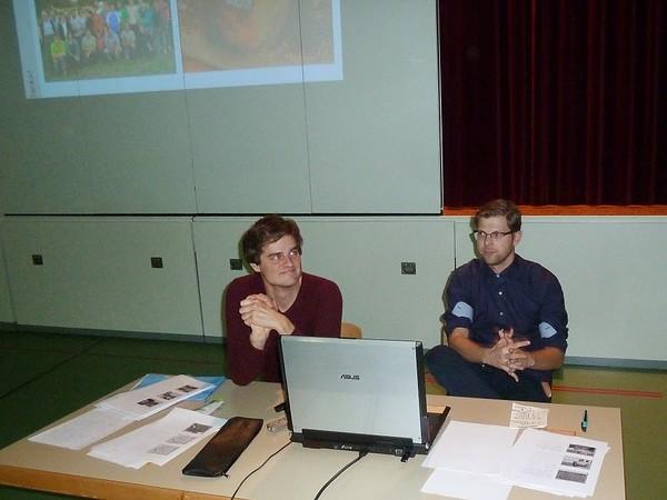 Luca Winiger von der Kantonsarchäologie Luzern und lic. phil. Andrew Lawrence vom Institut für archäologische Wissenschaften in Bern  nach getaner Arbeit