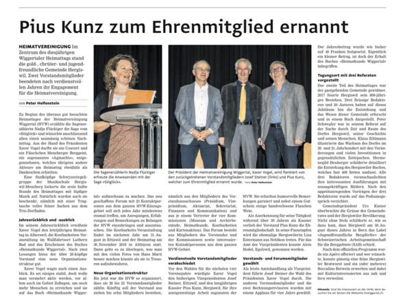 Zeitungsbericht Heimattag