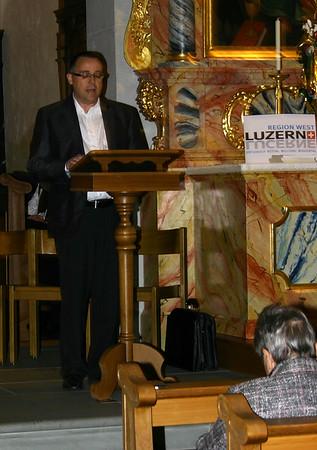 Die Laudatio hielt Stefan Calivers, Chefredaktor Willisauer Bote