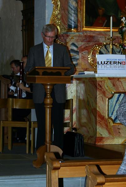 Der Präsident der Heimatvereinigung, Willi Korner, bei seiner Ansprache 'Heimat und Heimatvereinigung im Wandel'