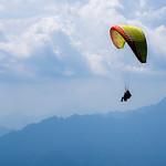 Paraglider tandem, Gardasjøen i Italia.