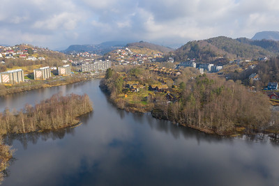 Dronebilder Bergen Elveneset, Birkelandsvatnet