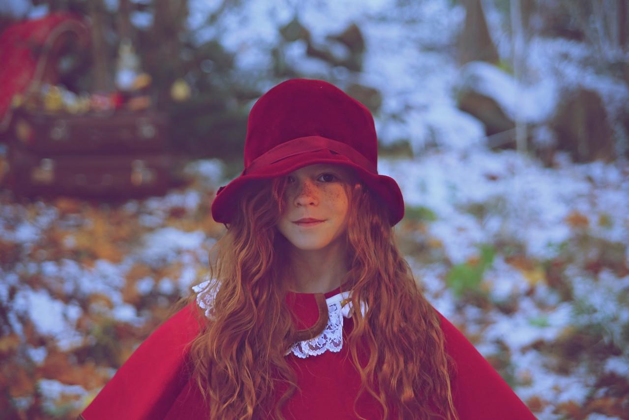 Little Red Riding Hood In Christmas Wonderland