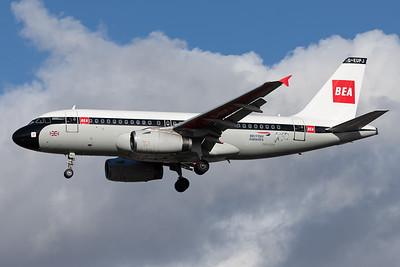 British Airways / Airbus A319 / G-EUPJ - BEA Retro