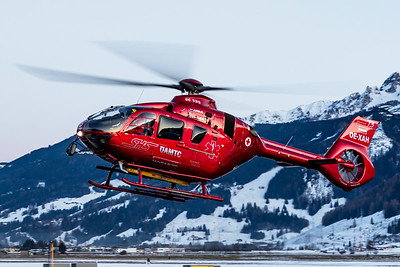 Alpin heli 6 is returning to its homebase
