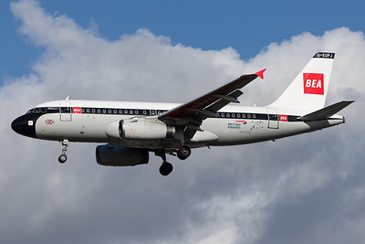 British Airways / Airbus A319 / G-EUPJ - BEA Retro