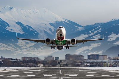 Takeoff in the mountains