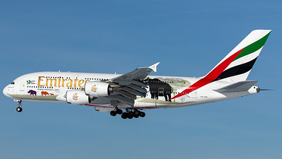 """Emirates / Airbus A380-800 / A6-EER / """"United for Wildlife"""""""