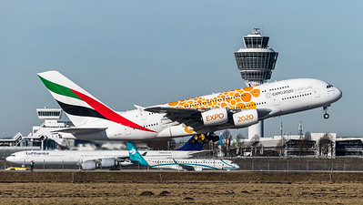 Emirates / A380-861 / A6-EEA / Orange Expo Liveryat MUC