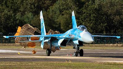 """Ukraine Air Force / Suchoi Su-27P """"Flanker"""" / 39 Blue"""
