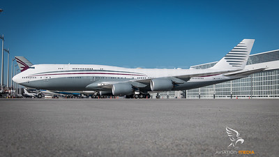 Qatar Governmental / Boeing B747-8KB(BBJ) / A7-HBJ