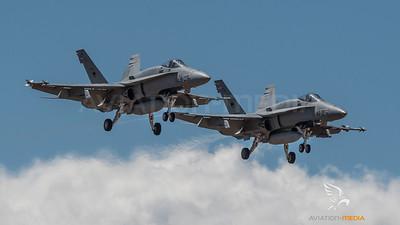 Ala 46 F/A-18 Hornets on approach (Gran Canaria)