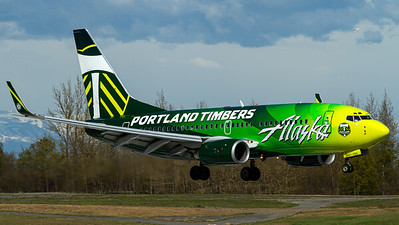 "Alaska Airlines / B737-700W / N607AS / ""Portland Timbers"""
