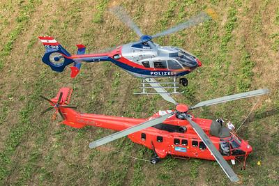 Bundespolizei  / EC135P2 / OE-BXB & Heli Austria / AS332L1 Super Puma / OE-XJP